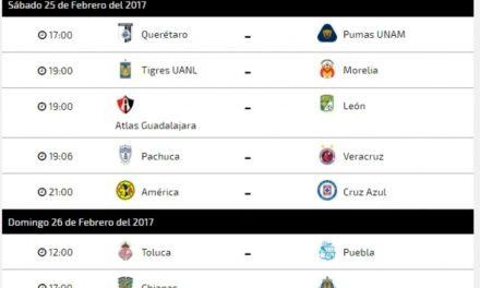 Calendario de la liga MX, jornada 8