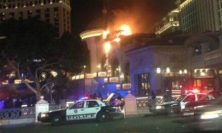 Arde el famoso casino Bellagio en Las Vegas