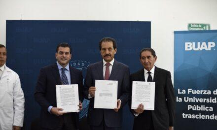 Firma BUAP convenio con el IMSS