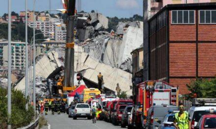 Sube la cifra de muertos por colapso de puente en Génova, Italia