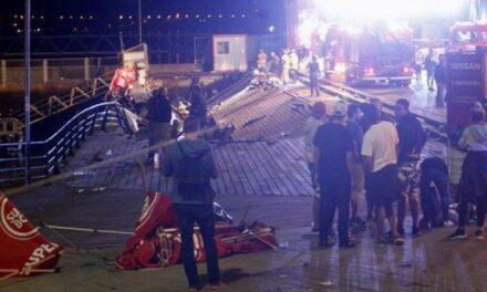 Más de 300 heridos por desplome de una pasarela en Vigo,España