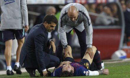 Messi se lesiona ¡a una semana del Clásico!