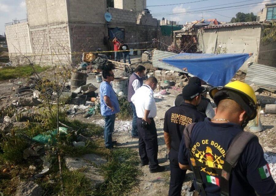 Explota taller clandestino de pirotecnia en Tultepec; dos muertos