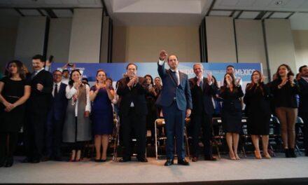 Marko Cortés rindió protesta como presidente del PAN