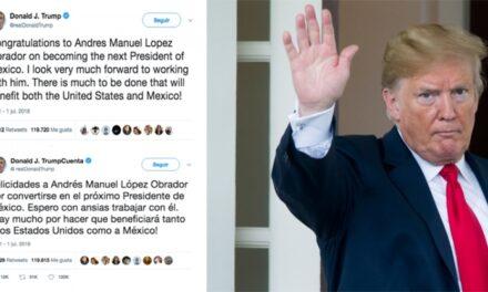 Trump felicitó a López Obrador por asumir Presidencia de México