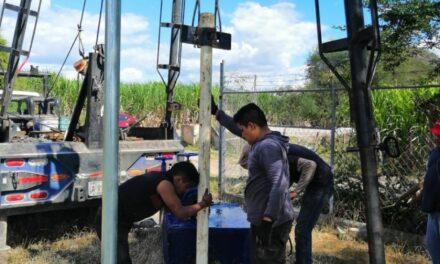 Rehabilitan pozo de agua en Tilapa