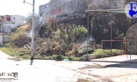 Incendio en la colonia La Joya en Izúcar de Matamoros