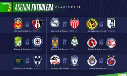 Jornada 5 del fútbol Mexicano