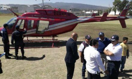 Con helicóptero bomba se combaten incendios forestales: SGG