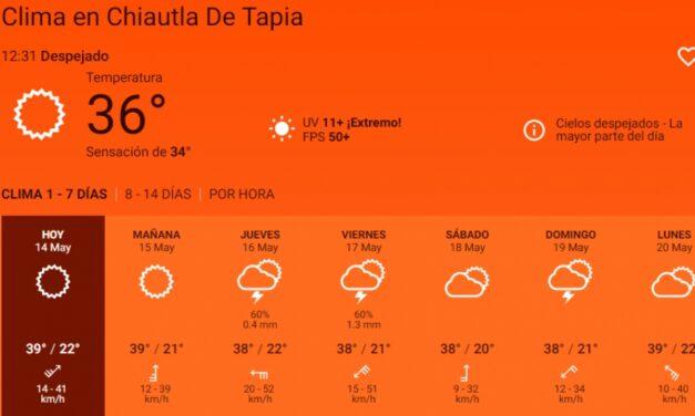 Emite Protección Civil de Chiautla recomendaciones por ola de calor