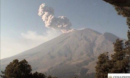 Registró el Popocatépetl dos explosiones: Protección Civil Estatal