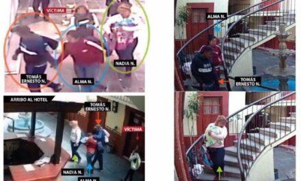 Por homicidio de una mujer y llevarse a su bebé en un hotel de Puebla, dos hermanas y un hombre fueron detenidos en CDMX