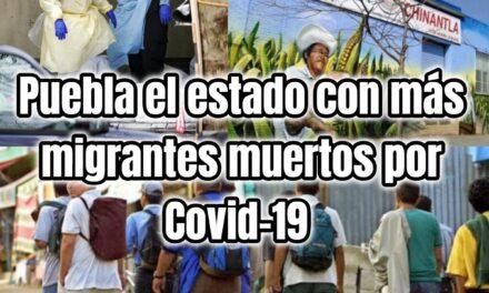 Puebla el estado con más migrantes muertos por Covid-19