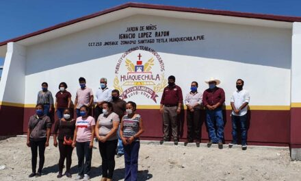 Ciro Gavilán Domínguez fortalece la infraestructura educativa de Huaquechula