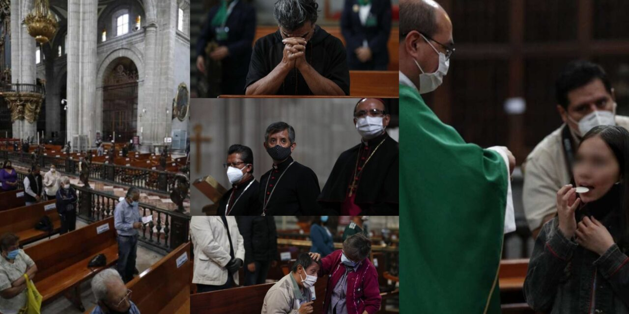 Bajo la nueva normalidad; reabren iglesias de la CDMX