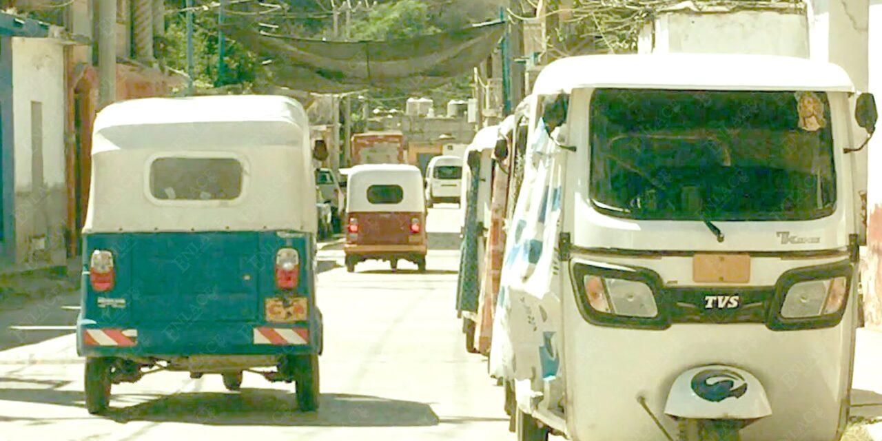 Piden mototaxis se les permita trabajar en modalidad de transporte