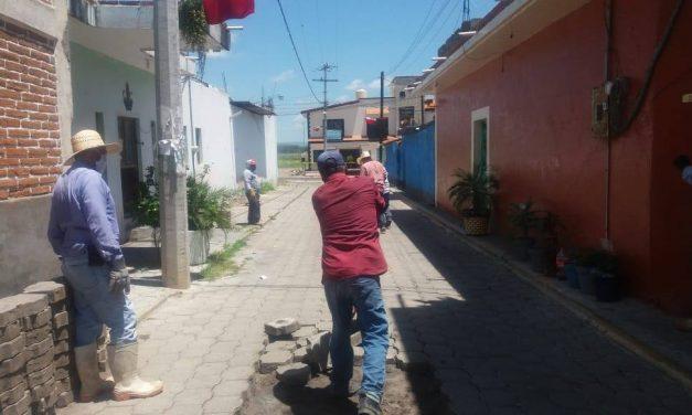 Rehabilitan red de drenaje sanitario en Huaquechula