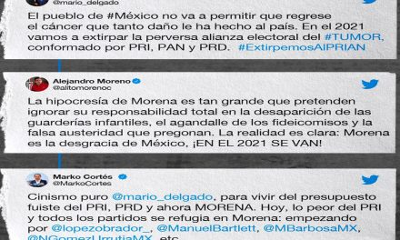 Guerra en Twitter: alianza PRIANRD vs MORENA