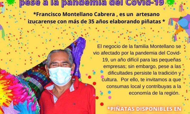 Las piñatas, una tradición que persiste pese a la pandemia de Covid-19