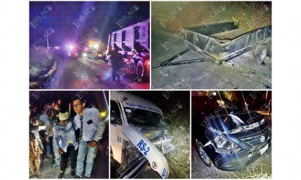 Al menos 8 heridos en tres accidentes automovilísticos
