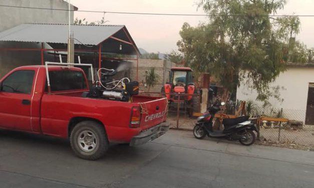 Realizan fumigaciones contra el dengue en Huehuetlán