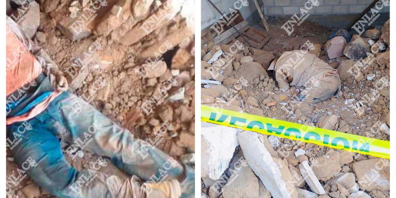 Albañil muere aplastado por una barda en Chiautla