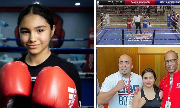 Joven acateca gana torneo de Boxeo en EU
