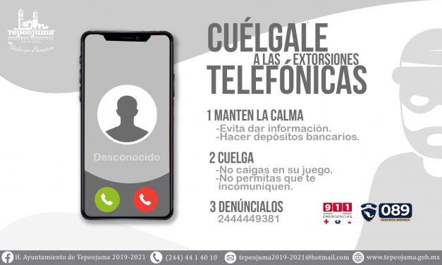 Alertan por llamadas de extorsión en Tepeojuma