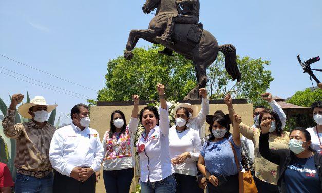 Morena inició campaña en Ayoxuxtla de Zapata