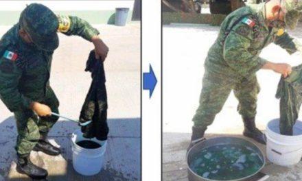 Por austeridad piden a soldados teñir sus uniformes desgastados y no pedir nuevos