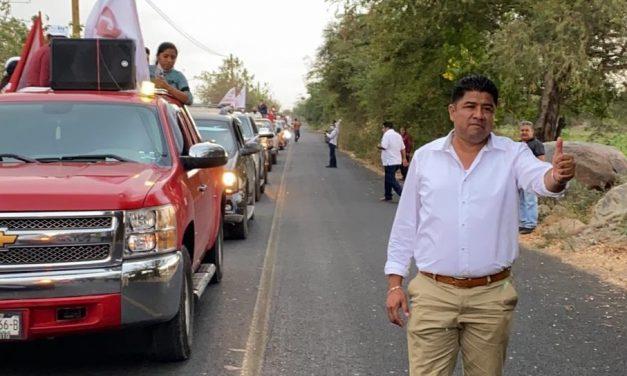 Ciro Gavilán inició campaña en Huaquechula