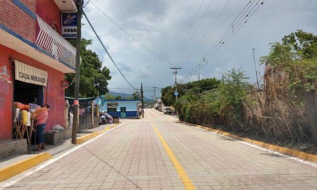 Ayuntamiento de Chietla realizó adoquinamiento en comunidades