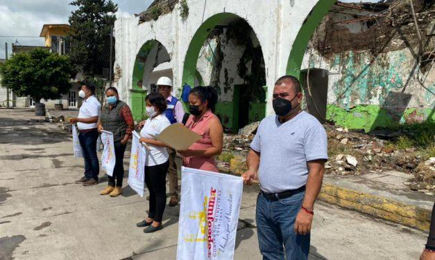 Rehabilitarán antiguo Palacio Municipal de Tepeojuma