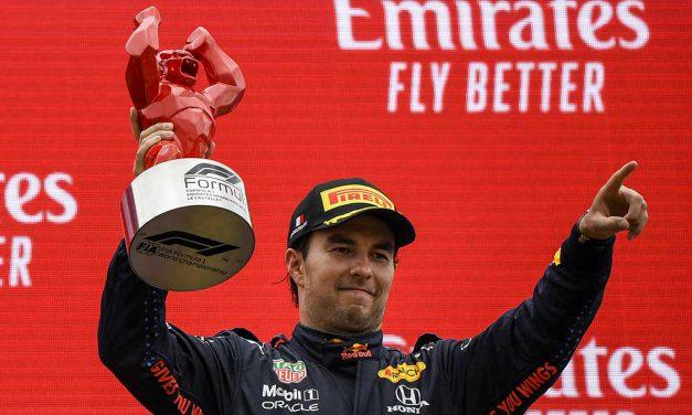 Checo sube al podio del  Gran Premio de Francia