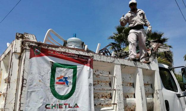 Continúan Jornadas de<br>descacharrización en Chietla