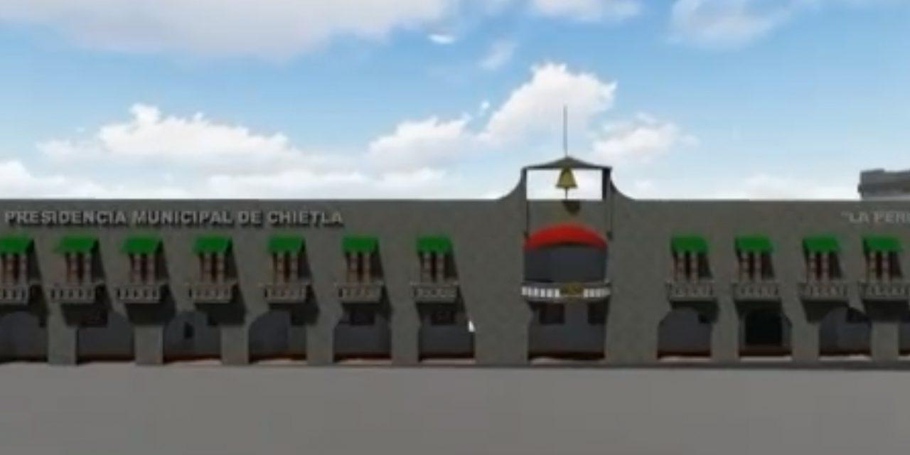 Por concluir el nuevo palacio municipal de Chietla