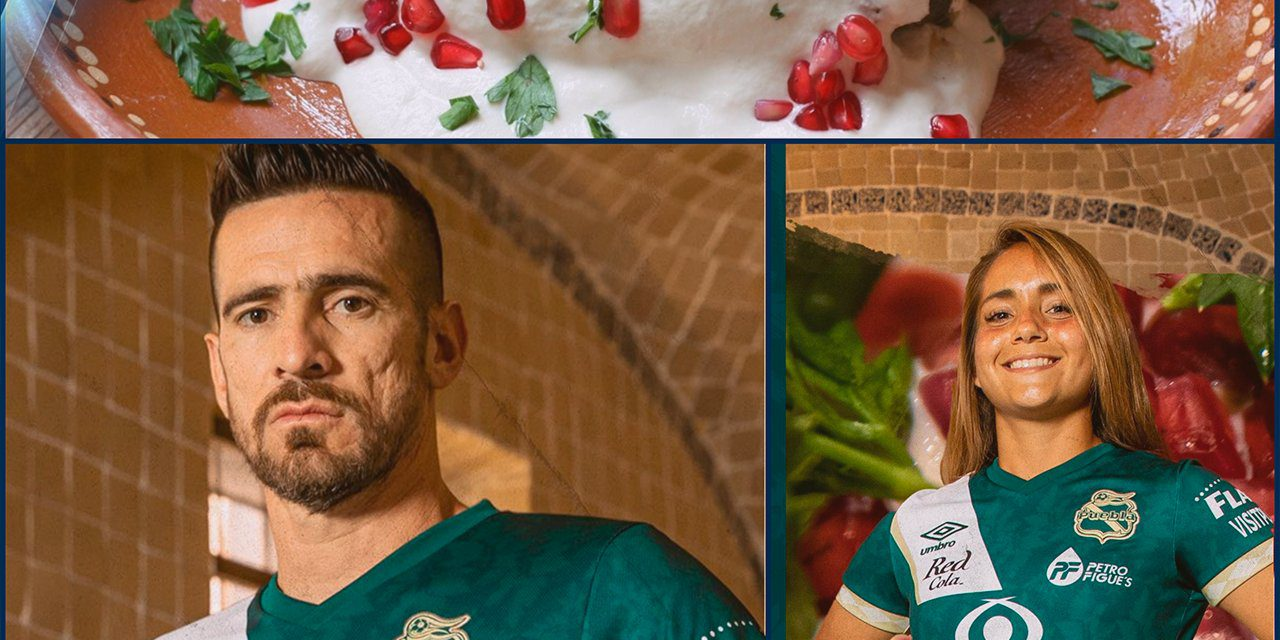 Club Puebla presenta su uniforme inspirado en el chile en nogada