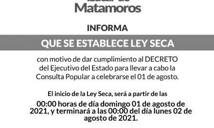 Habrá ley seca den Izúcar de Matamoros