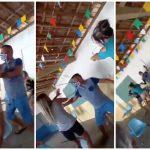 Amante y esposa pelean en centro de vacunación