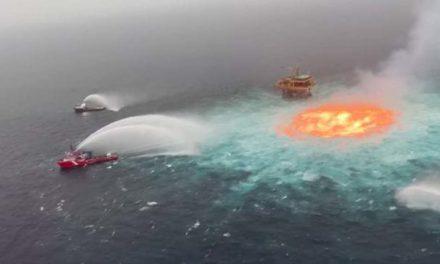 Tormenta eléctrica y fuga de gas causaron incendio en el mar