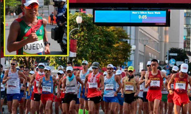 José Leyver Ojeda Blas el mejor mexicano en marcha 50km