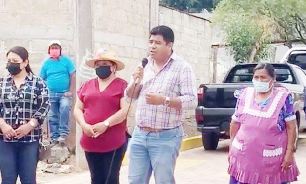 Continúan las obras a favor de los habitantes de Huaquechula