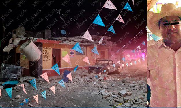 Explota vivienda exlider cañero en Ahuehuetzingo