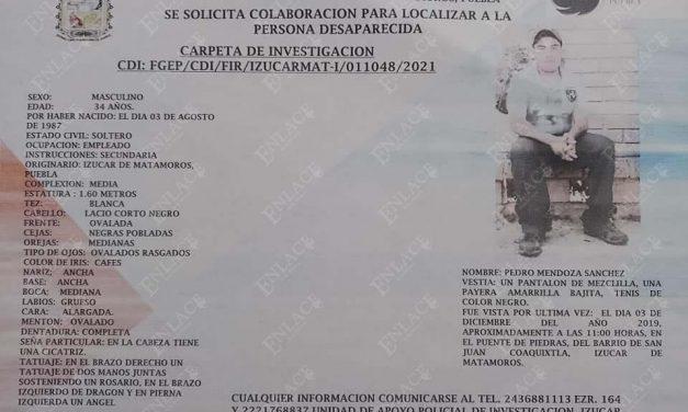 Izucarense lleva desaparecido 3 años