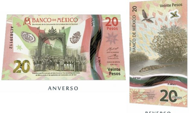Nuevo billete de 20 pesos conmemorativo del Bicentenario de la Independencia