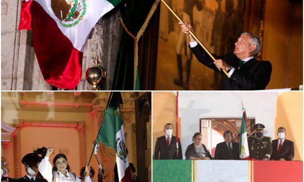 """Dos ceremonias del """"Grito"""" en esta capital"""