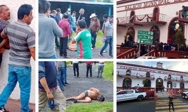 #Video y fotos || Dos personas linchadas en Huitzilac; los queman vivo