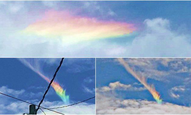 """Hubo un """"arcoíris de fuego"""" en Acatlán de Osorio"""