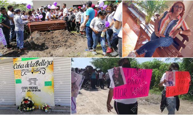 Familiares y amigos dieron el último adiós a Flor Santos
