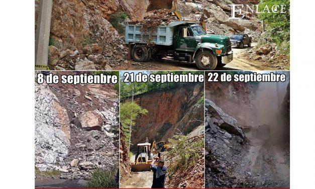 Otro deslave en la carretera Axutla – Huehuepiaxtla